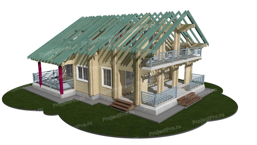 Проекты домов. Разбревновка