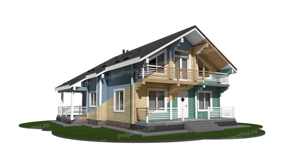 Покраска дома из бруса. Колористические решения