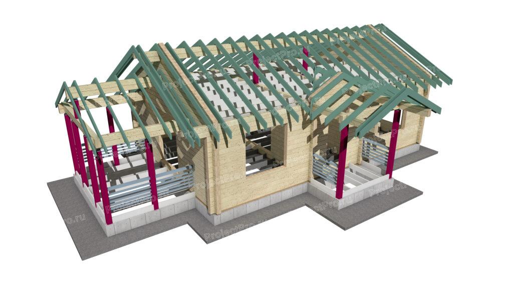 Проект дома. Конструкции деревянные