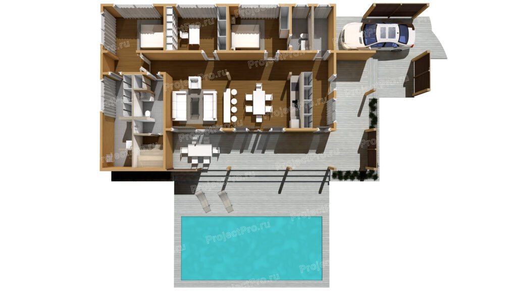 Проект дома из бруса. Планировка