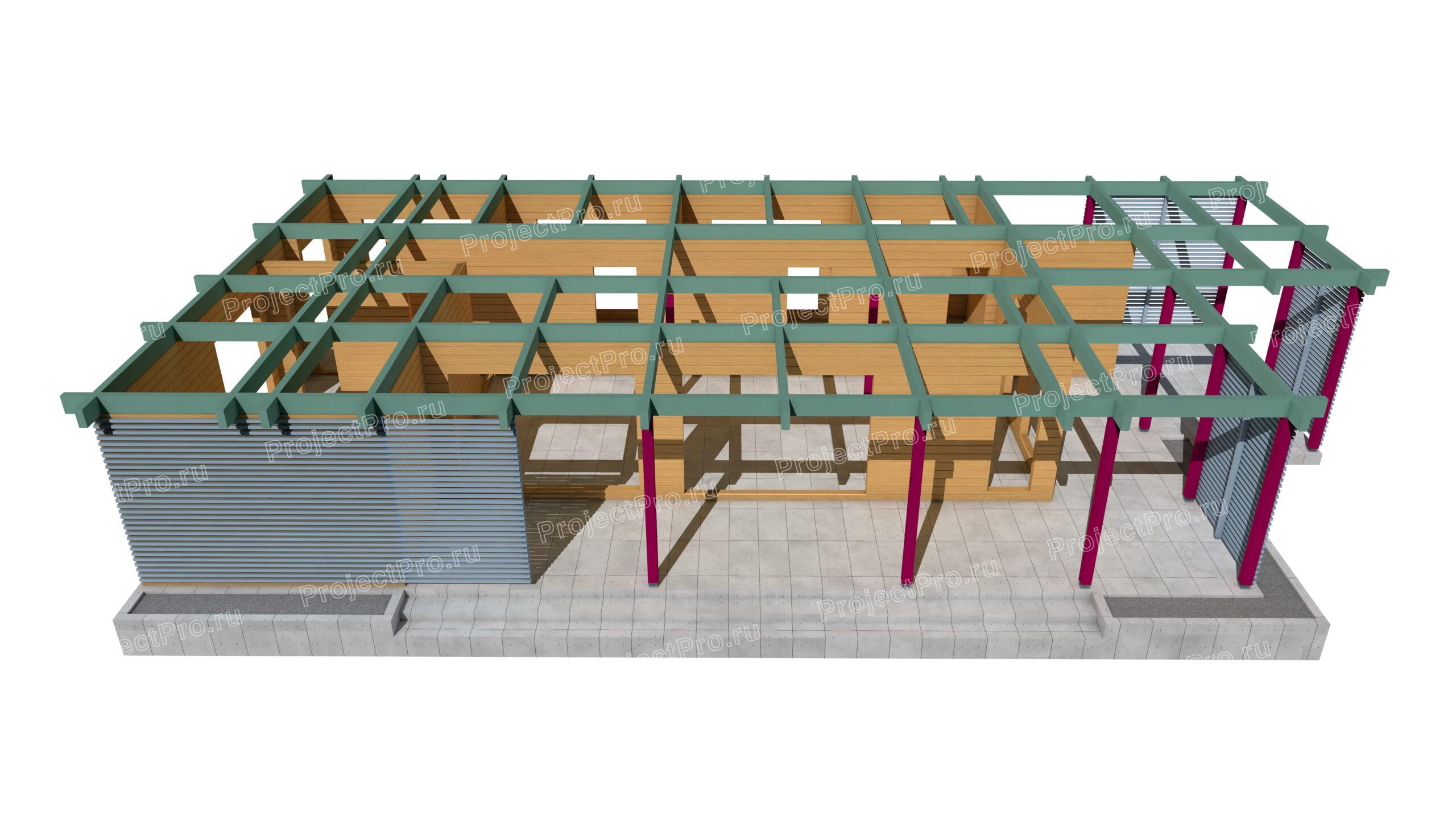 Проект дома из бруса. Конструкции деревянные. Разбрусовка
