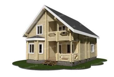 Проект дома из бревна. Разбревновка