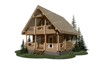 Проект дома из лиственницы. Разбревновка
