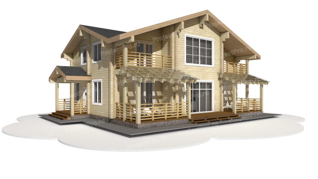 Индивидуальный проект дома из клееного бруса