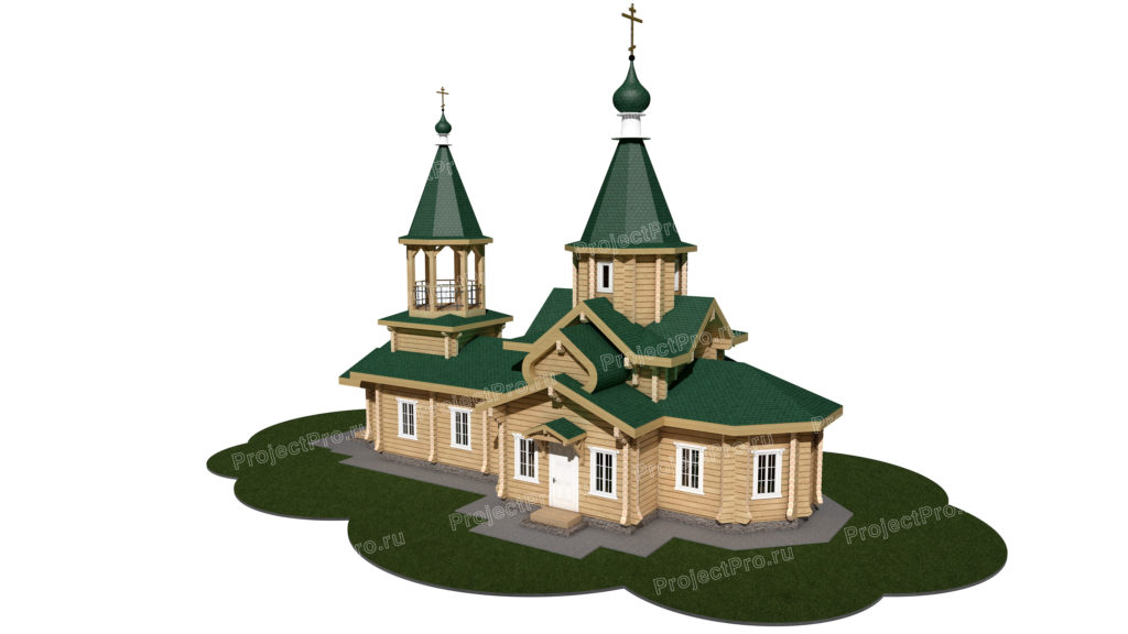 Проект храма из лафета