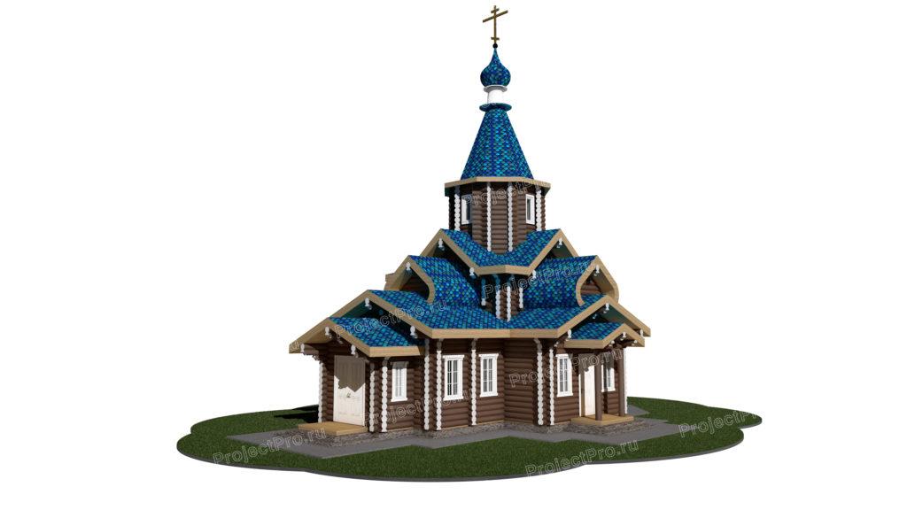 Проект храма из бревна